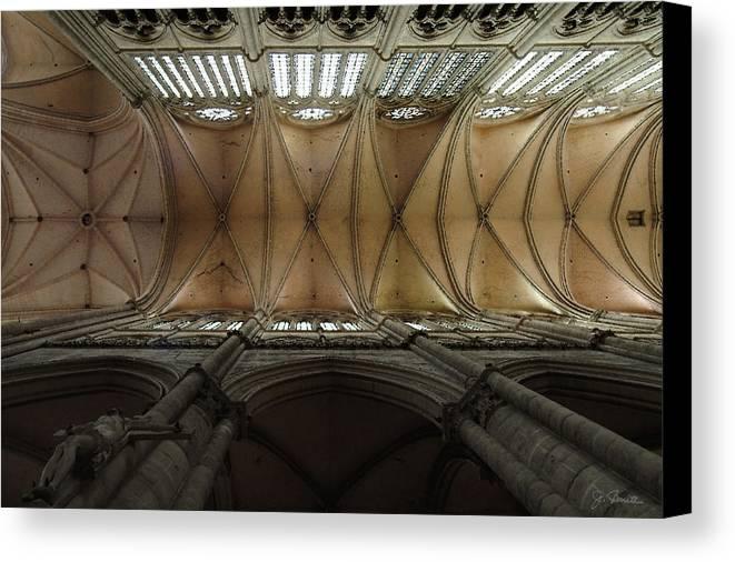 France Canvas Print featuring the photograph Ecclesiastical Ceiling No. 1 by Joe Bonita