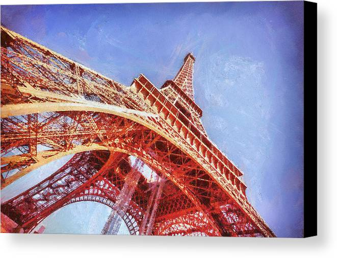 Eiffel Tower Canvas Print featuring the painting Eiffel Tower by Patricia Soon