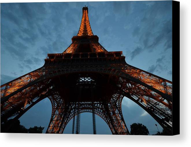 Eiffel Tower Canvas Print featuring the photograph Eiffel Tower by Toby McGuire