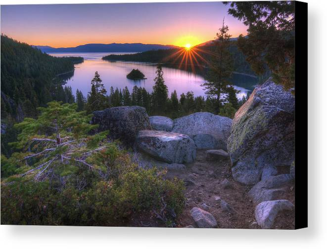 Canvas Print featuring the photograph Emerald Bay by Sean Foster