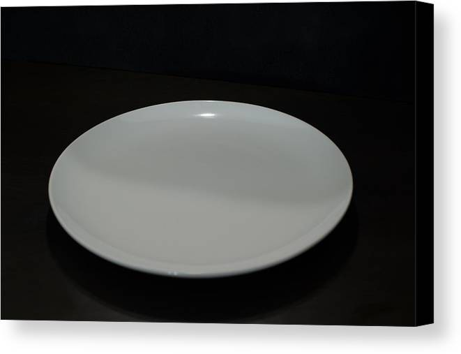 Plate Canvas Print featuring the photograph Empty Plate by Frank Gaertner