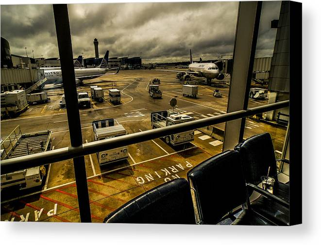George Bush International Airport Canvas Print featuring the photograph Equipment by Eugene Carson