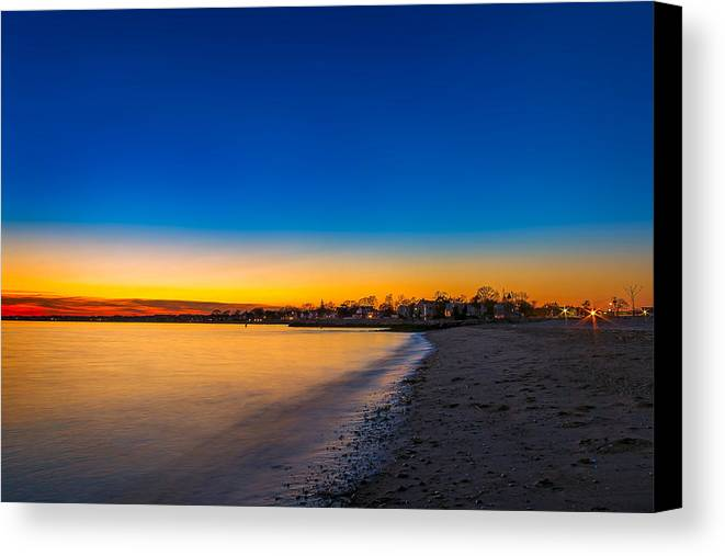 12282013 Canvas Print featuring the photograph Evening By The Beach by Lechmoore Simms