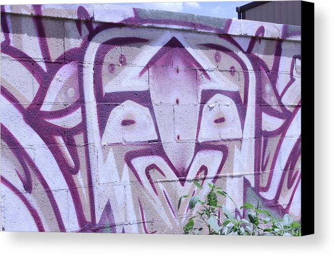Graffiti Canvas Print featuring the photograph Eyes by Johnathan Bruder