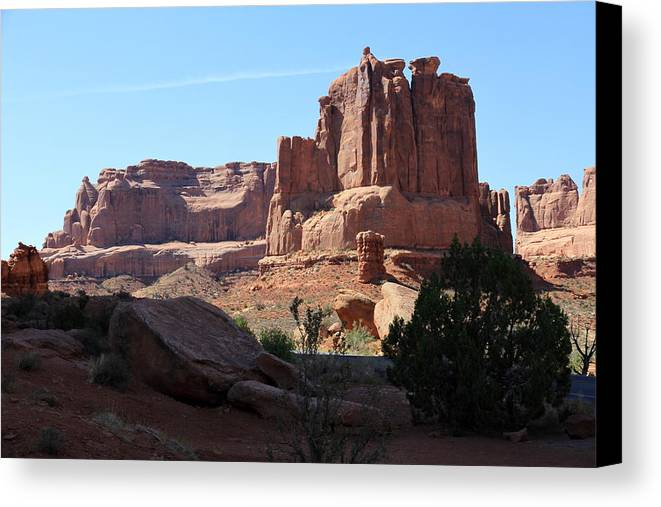 Window Canvas Print featuring the photograph Fabulous Rockformation by Christiane Schulze Art And Photography