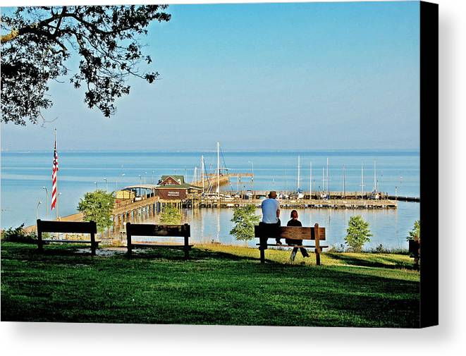 Fairhope Canvas Print featuring the painting Fairhope Alabama Pier by Michael Thomas