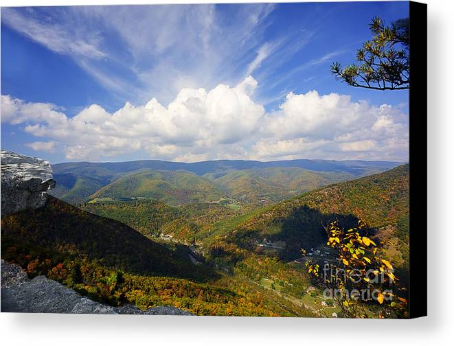 North Fork Mountain Canvas Print featuring the photograph Fall Scene From North Fork Mountain by Dan Friend