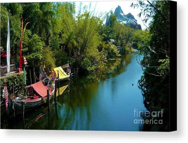 Epcot Canvas Print featuring the photograph Fantasy Land by Annette Allman