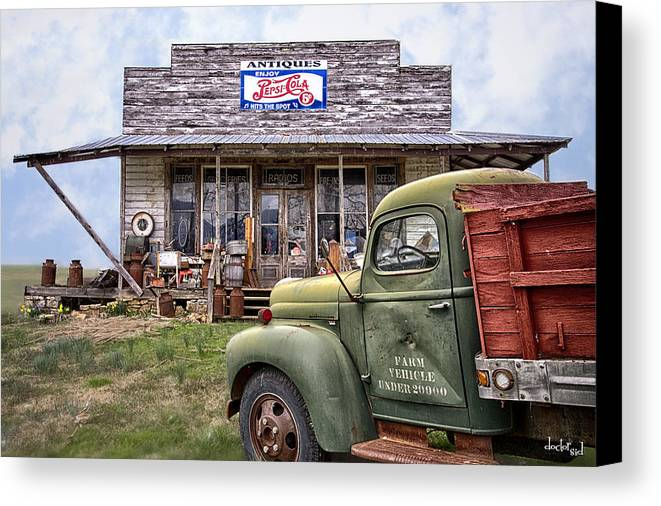 Doctorsid Canvas Print featuring the photograph Farm Vehicle by Doctor Sid