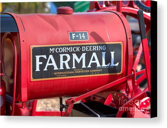 Clarence Holmes Canvas Print featuring the photograph Farmall F-14 Tractor I by Clarence Holmes