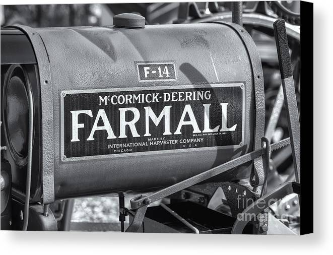 Clarence Holmes Canvas Print featuring the photograph Farmall F-14 Tractor II by Clarence Holmes