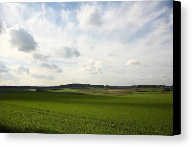 Grainfield Canvas Print featuring the photograph Farmland by Wello Karron
