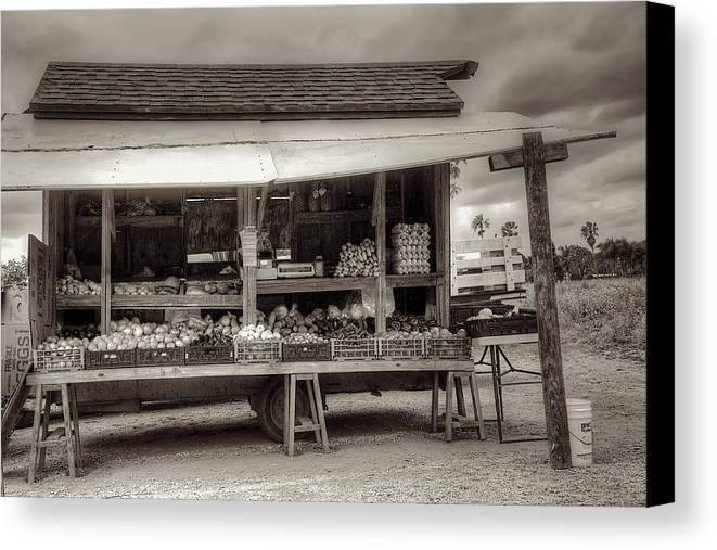 Farm Canvas Print featuring the photograph Farmstand by William Wetmore