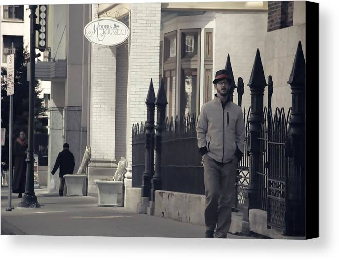 Fashion On The Street Canvas Print featuring the photograph Fashion On The Street by Dan Sproul