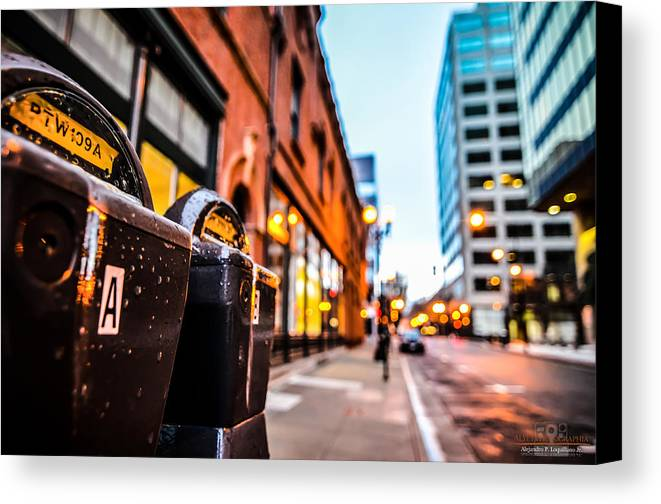 City Canvas Print featuring the photograph Feed The Meter by Alejandro Loquillano