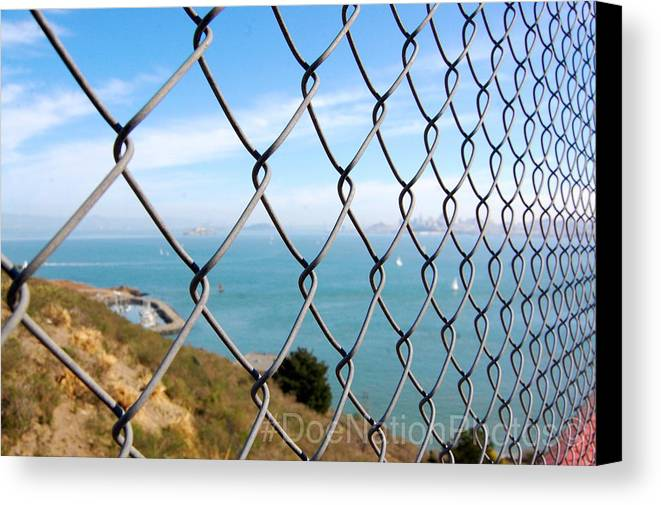Fence Canvas Print featuring the photograph Fenced In Beauty by Doe Nation