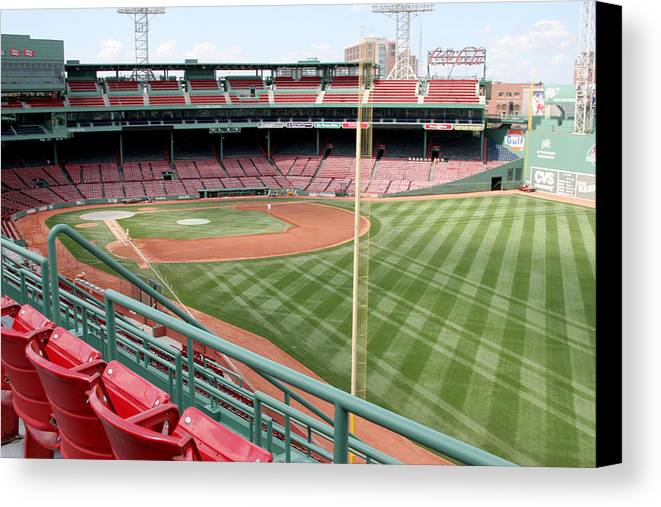 Mass Canvas Print featuring the photograph Fenway Park 1 by Kathy Hutchins