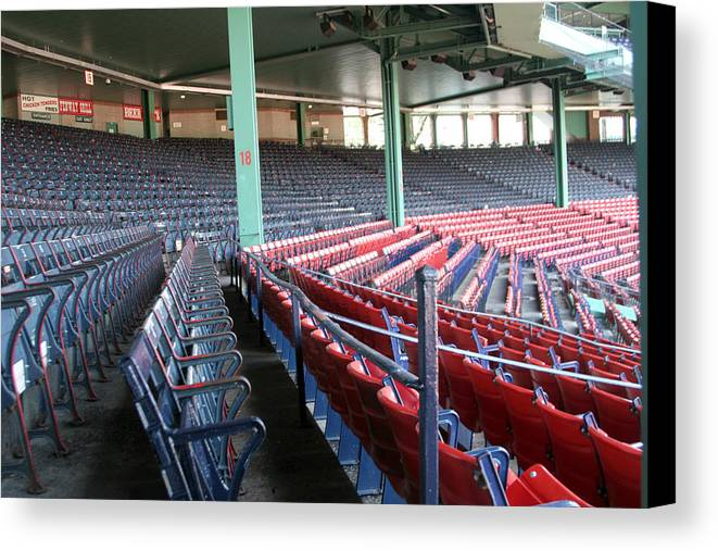 Mass Canvas Print featuring the photograph Fenway Park 3 by Kathy Hutchins