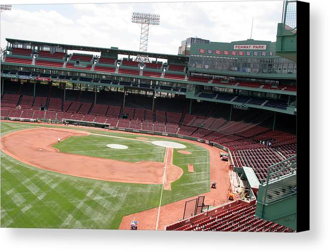 Mass Canvas Print featuring the photograph Fenway Park 4 by Kathy Hutchins