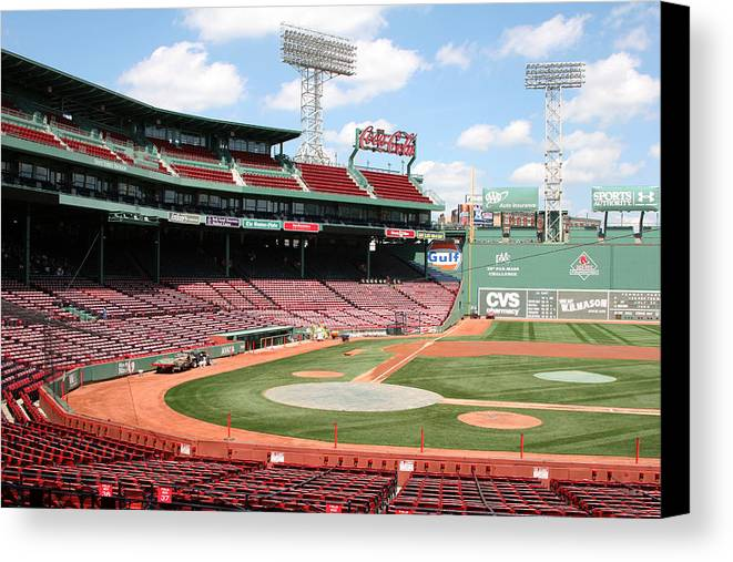 Mass Canvas Print featuring the photograph Fenway Park 8 by Kathy Hutchins