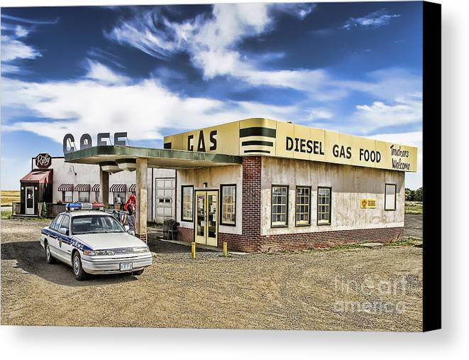 Corner Gas Canvas Print featuring the photograph Fill It Up by Nicholas Kokil