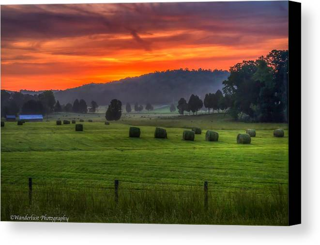 Day Canvas Print featuring the photograph Fire In The Sky by Paul Herrmann