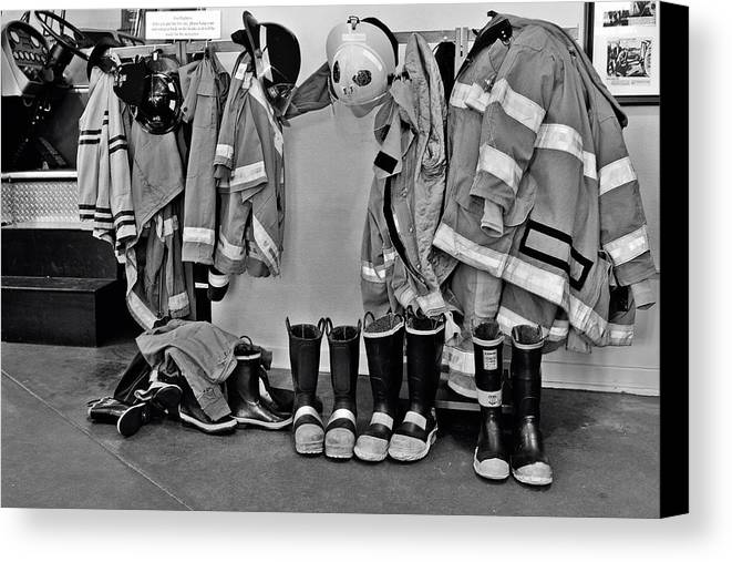 Beaumont Canvas Print featuring the photograph Fire Museum Beaumont Tx by Christine Till