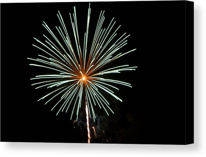 Colors Canvas Print featuring the photograph Fireworks Bursts Colors And Shapes 2 by SC Heffner