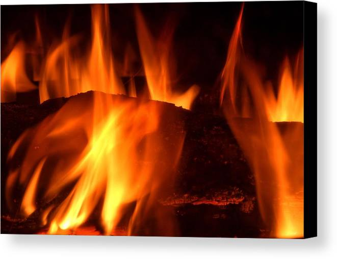 Flame Canvas Print featuring the photograph Flame by Julia Fine Art And Photography