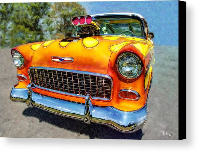 Doctorsid Canvas Print featuring the photograph Flame Thrower by Doctor Sid