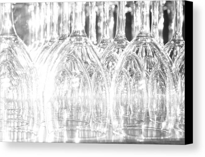 Glass Canvas Print featuring the photograph Flash Of Light On Glass by David Miller