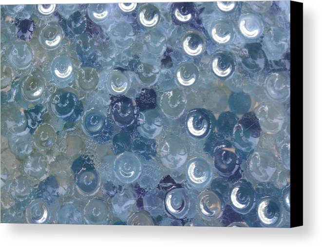 Marbles Canvas Print featuring the photograph Flat Raindrops by Paige White
