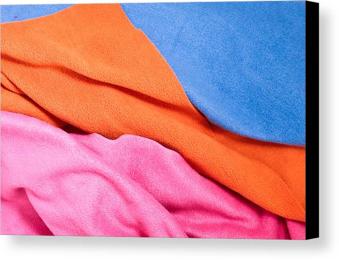 Abstract Canvas Print featuring the photograph Fleece Material by Tom Gowanlock