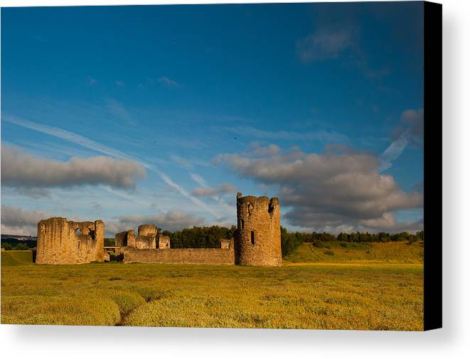 Clwyd Canvas Print featuring the photograph Flint Castle by David Ross