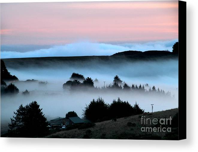 Bodega Canvas Print featuring the photograph Fog Over The Coastline Of Sonoma County California by Wernher Krutein