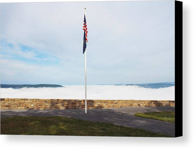 Hyner View Canvas Print featuring the photograph Foggy Morning by Megan Hill