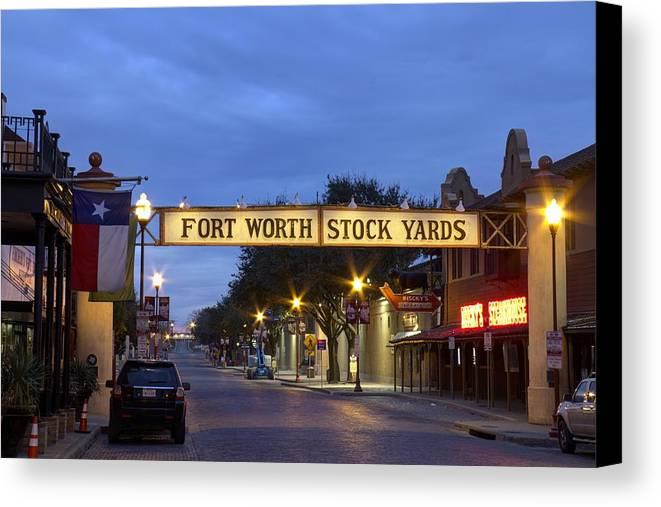 Texas Canvas Print featuring the photograph Fort Worth Stockyards by Debby Richards