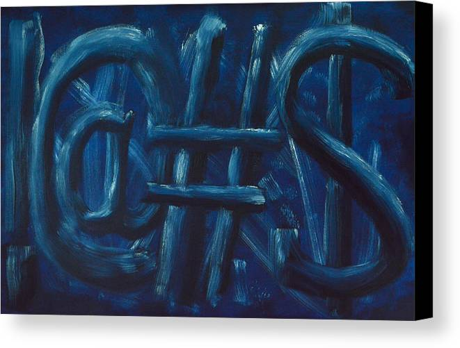 !@#$ Canvas Print featuring the painting Four Letter Words by Shawn Marlow