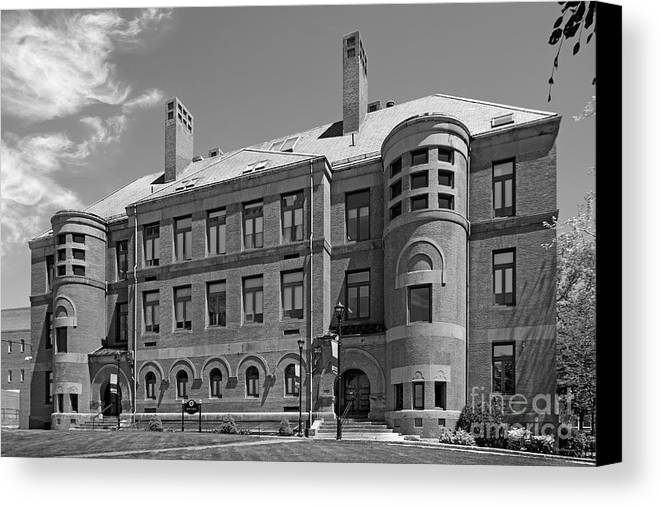Framingham Canvas Print featuring the photograph Framingham State University May Hall by University Icons