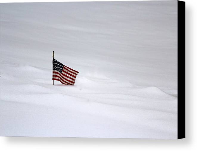 American Flag Canvas Print featuring the photograph Freedom Forever by Pam Festa