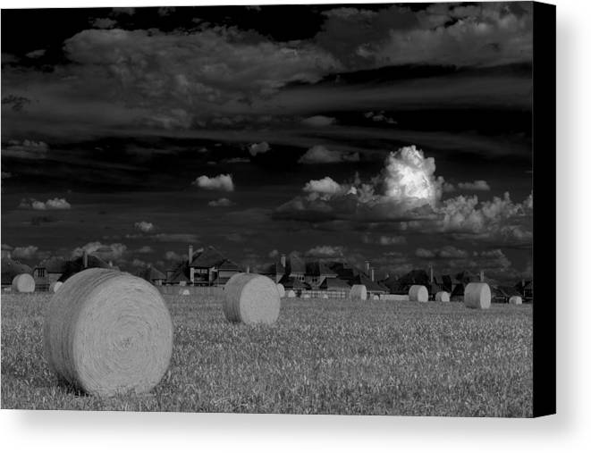 Hay Bales Canvas Print featuring the photograph Frisco Dream by Darryl Dalton