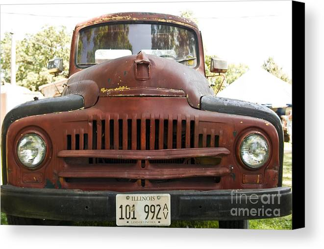 Truck Canvas Print featuring the photograph Front End by Margaret Collins