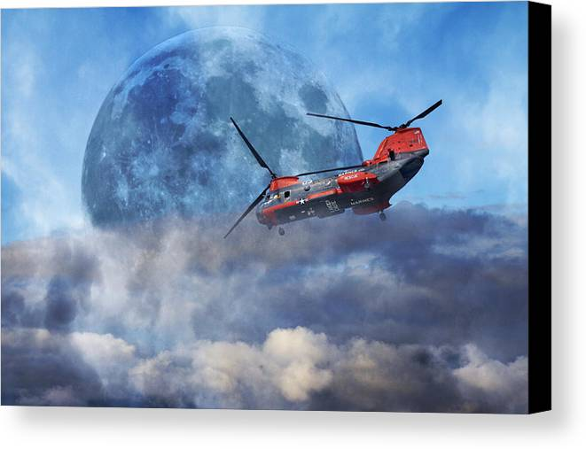 Full Canvas Print featuring the photograph Full Moon Rescue by Betsy Knapp
