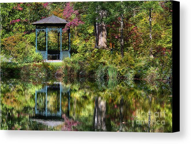 Delaware Canvas Print featuring the photograph Gazebo Retreat by John Greim