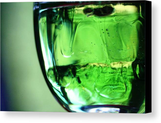Green Canvas Print featuring the photograph Glass Of Green by Rachelle Johnston