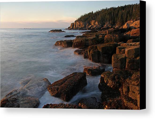Acadia National Park Canvas Print featuring the photograph Glorious Maine Acadia National Park by Juergen Roth