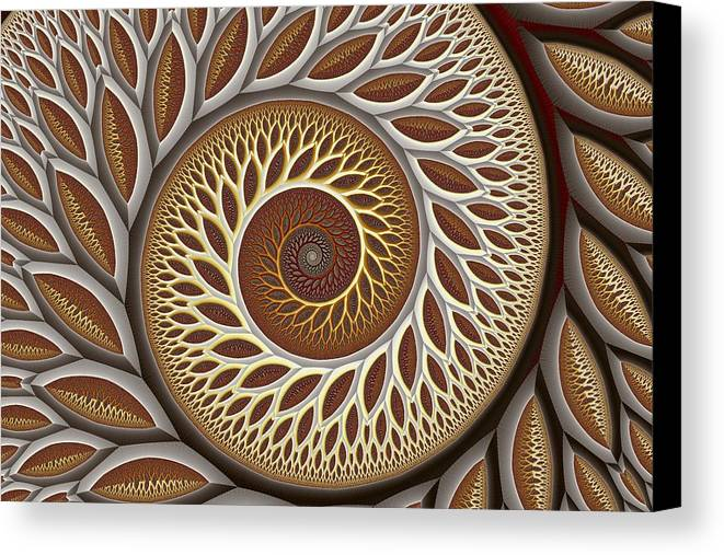 Abstract Canvas Print featuring the digital art Glynn Spiral No. 2 by Mark Eggleston