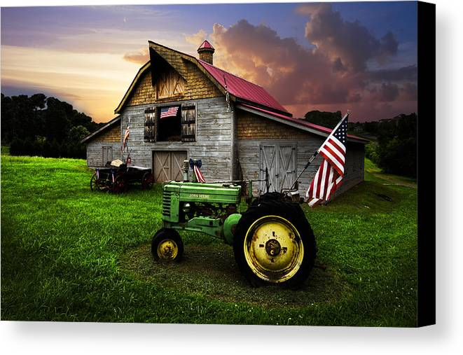 American Canvas Print featuring the photograph God Bless America by Debra and Dave Vanderlaan