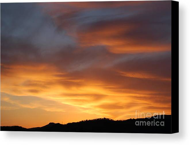 Sunset Canvas Print featuring the photograph Gods Paintbrush by Jordan Rusin
