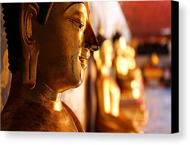 Metro Canvas Print featuring the photograph Gold Buddha At Wat Phrathat Doi Suthep by Metro DC Photography